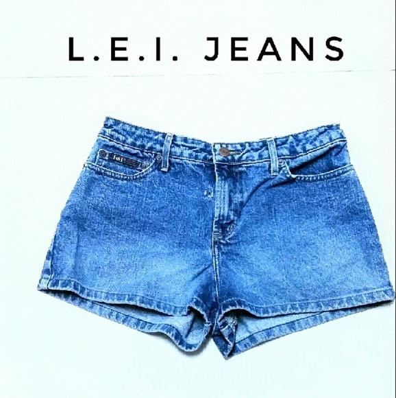 L.E.I. Jeans Pants - Junior's L.E.I. Jeans Denim Shorts Size 9